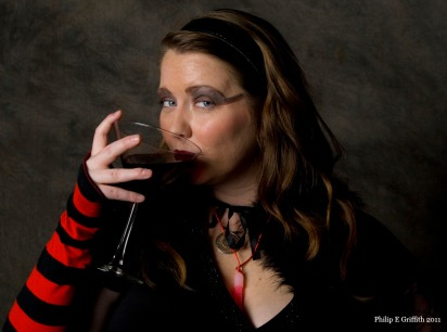 A vampire-type chick