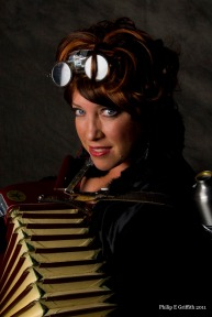 Steampunk Accordian Player